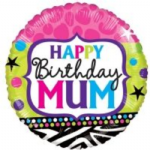 "HAPPY BIRTHDAY MUM BALLOON 18"" 15165-18"